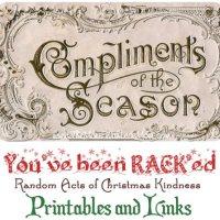 Random Acts of Christmas Kindness Advent Calendar - RACK Printables, Cover Photos, and Links