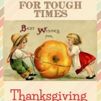 Thrifty Thanksgiving for Tough Times - Thanksgiving Blessing Bags & You've Been Gobbled Printable
