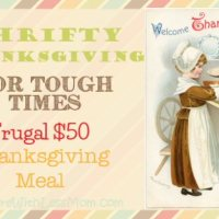 Thrifty Thanksgiving for Tough Times - Frugal $50 Thanksgiving Meal