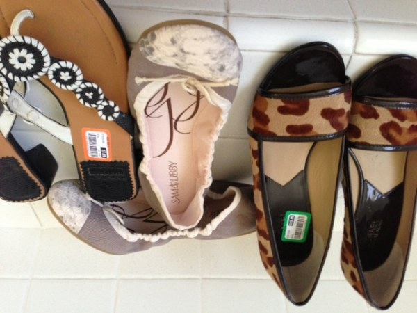 goodwill shoes 3 pair