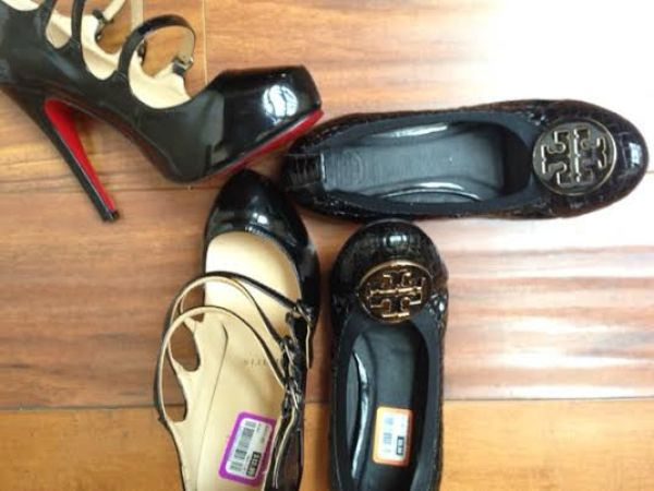 goodwill shoes louboutin and tory