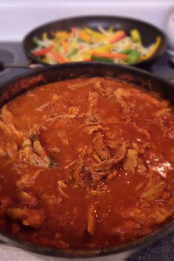 pork carnitas cooking