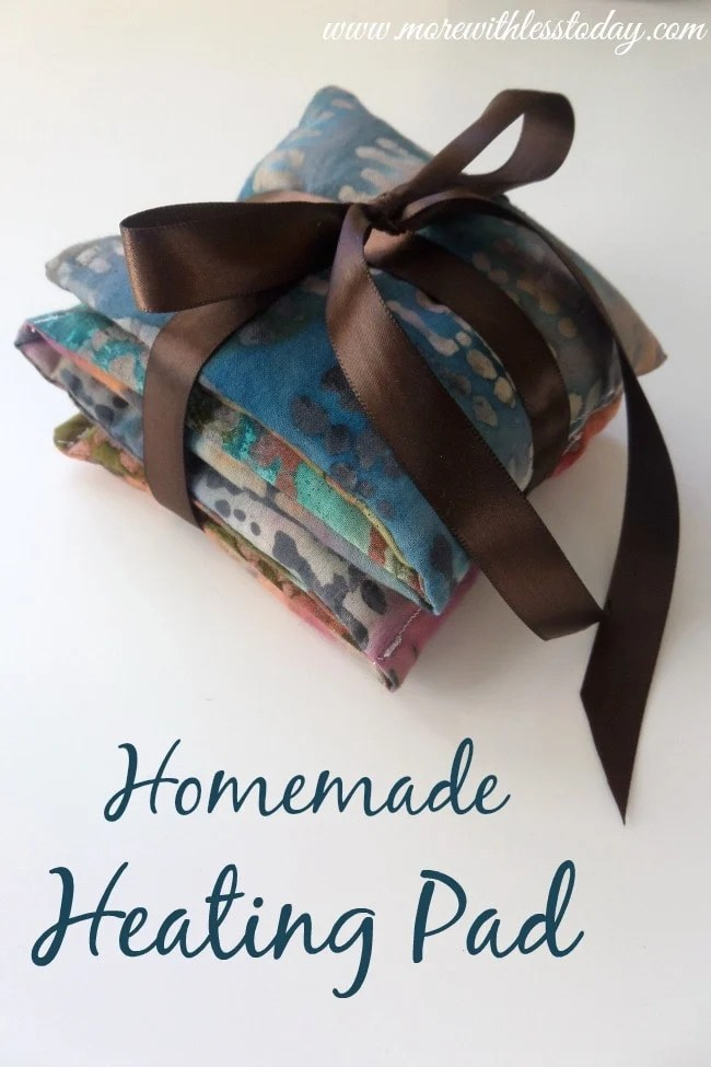 Homemade Heating Pad - More With Less Today - DIY Heating Pad Makes A Wonderful Gift or Keep for Yourself to Ease Aches and Pains. DIY teacher gift