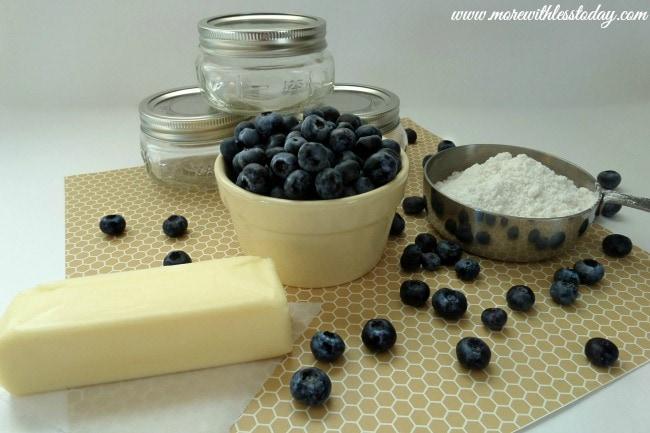 Mason Jar Desserts Blueberry Dump Cake