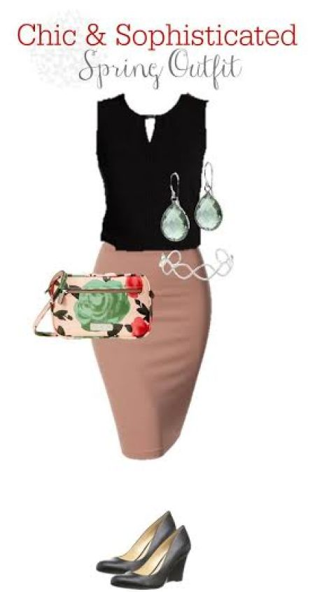 chic and sophisticated spring outfit, Amazon fashion, put together a chic outfit, pencil skirts, Marc Jacobs floral crossover bag, Spring fashion trends