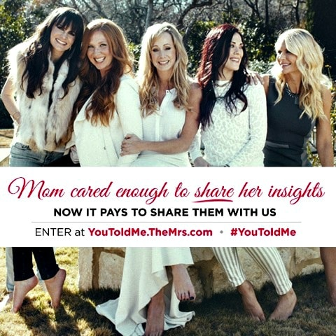 Mother's Day contest- the all-female rock band The Mrs.- #YouToldMe Mother's Day Contest -share mother's life lessons and words of wisdom- Mother's Day 2015