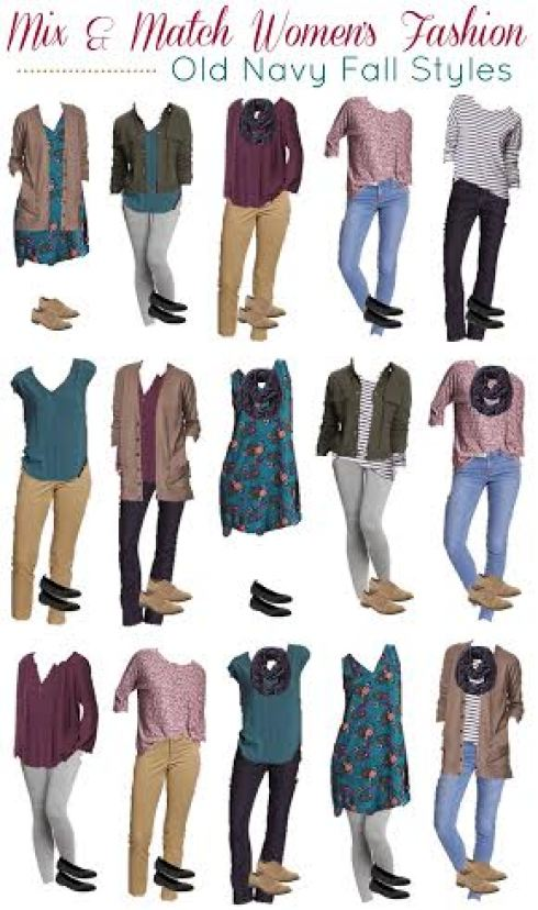 Old Navy fall wardrobe with a few key pieces, mix and match wardrobe from Old Navy, fashion with Old Navy pieces, build a fall wardrobe with a few items, how to mix and match clothing, Old Navy