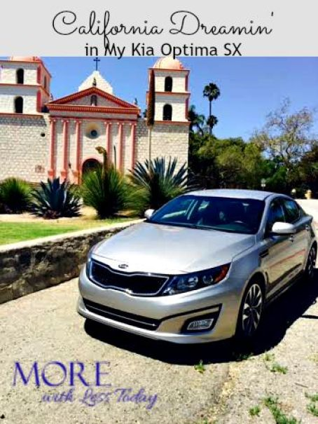 review of Kia Optima SX, road trip to Santa Barbara, luxury sedan at lower price, Kia Optima SX features