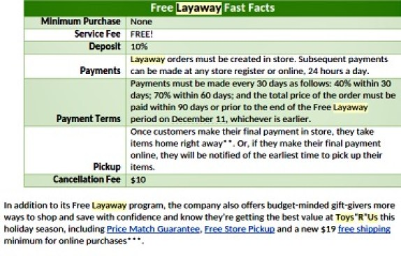 2015 toys r us layaway explained