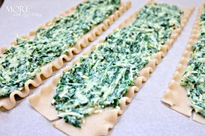 Taste of Italy Spinach Lasagna Rolls
