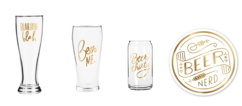 easy tiger glassware seen on GMA