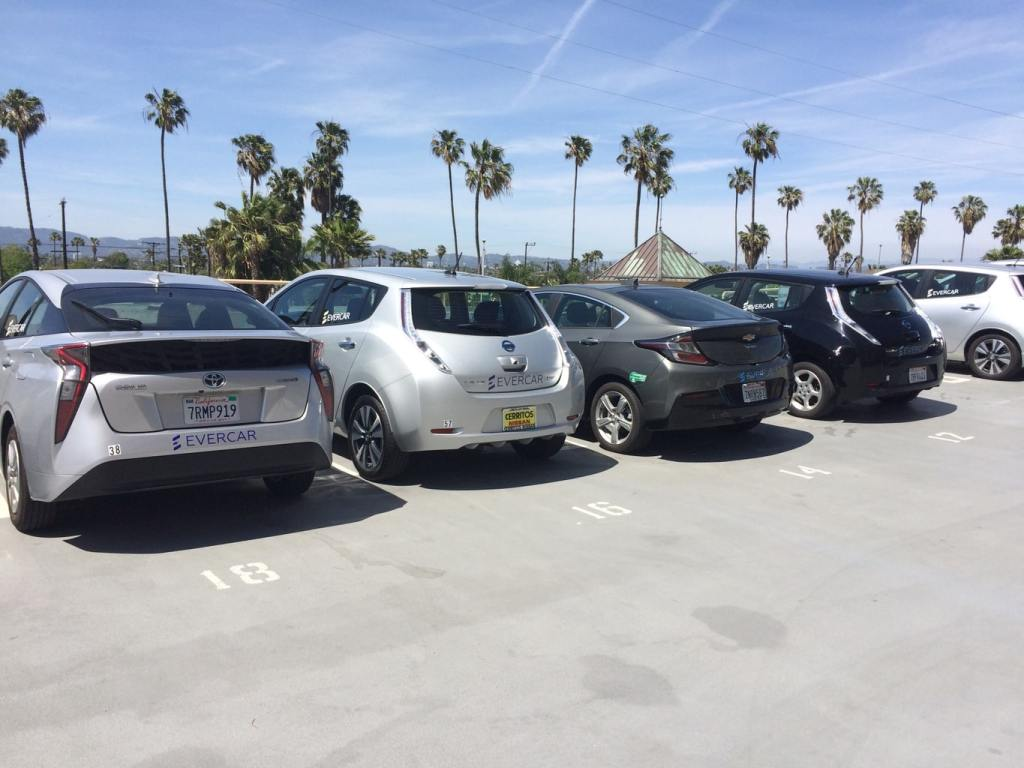 Evercar ride sharing in Los Angeles