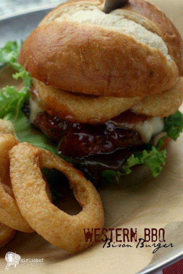 Western BBQ Bison Burgers recipe