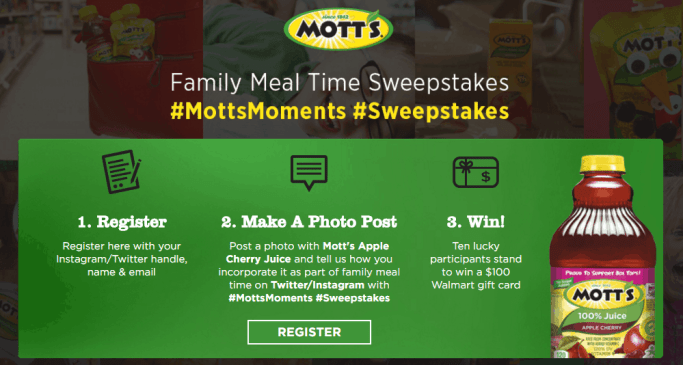 motts sweepstakes