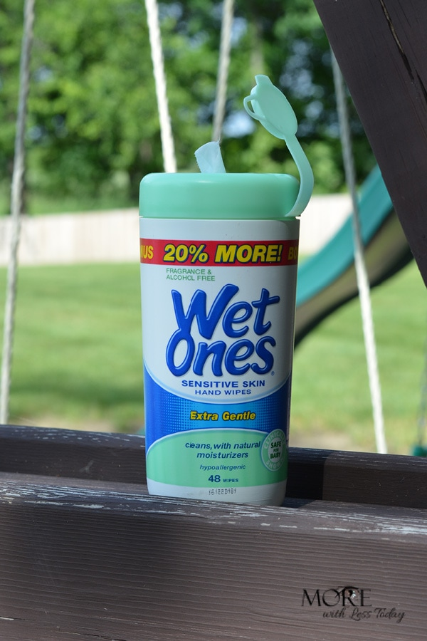 What messy summer adventures are you having? We are surviving our summer adventures with Wet Ones. They are great to always have on hand.