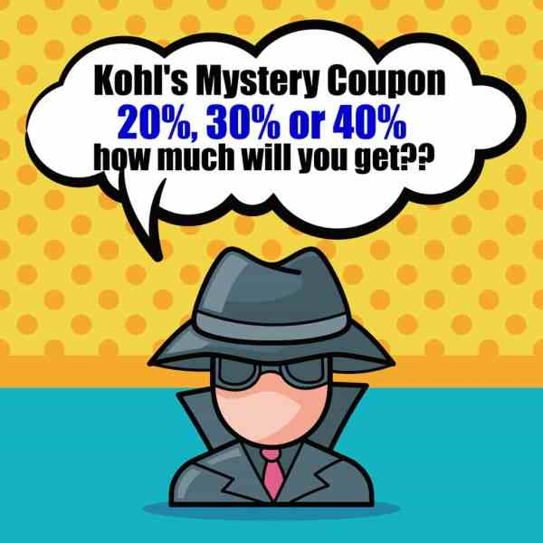 Are you a Kohl's shopper? Grab your Mystery Coupon which is good for 20%, 30% or 40% off today, 9/25 only. What deal will you score?