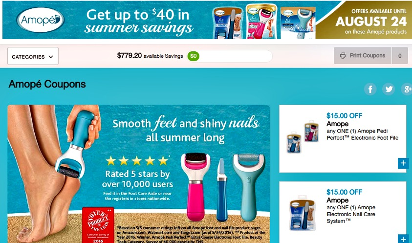new coupons.com amope