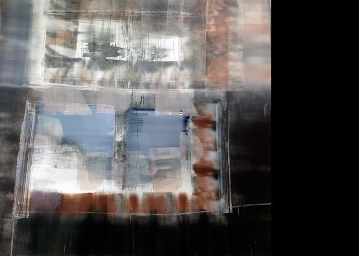 'Enclosure', monoprint, 80 x 80 cm, £1,200