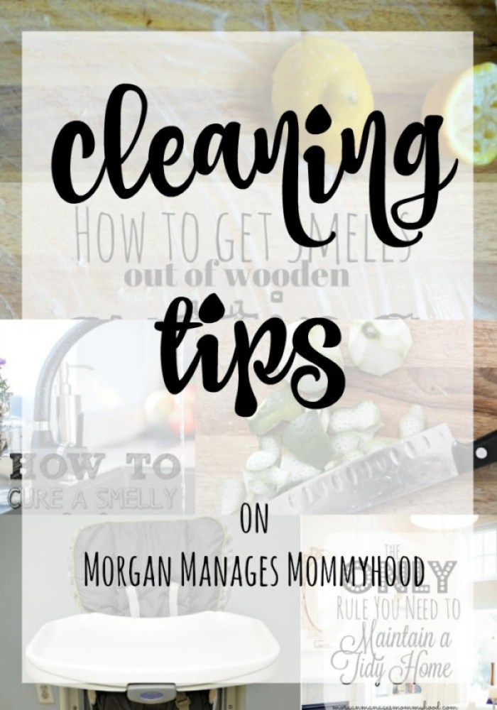 Need cleaning tips for keeping your home clean, getting rid of smells, or cleaning something quickly and easily? Head over to Morgan Manages Mommyhood to see all of her best tips, tricks, and tutorials for keeping house!