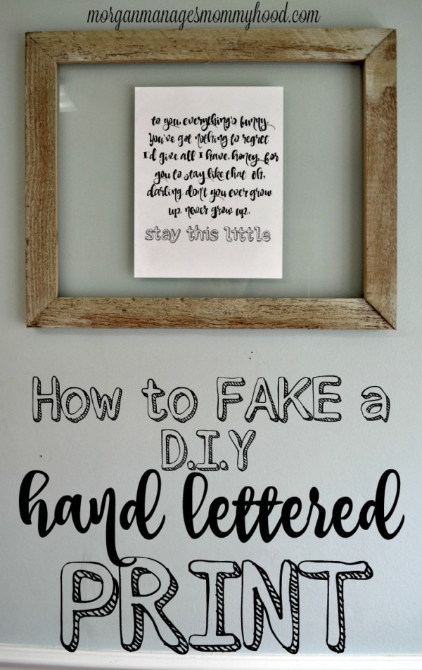 Do you love the look of a hand lettered print but don't know how to make one yourself? Learn how to fake a DIY hand lettered print!