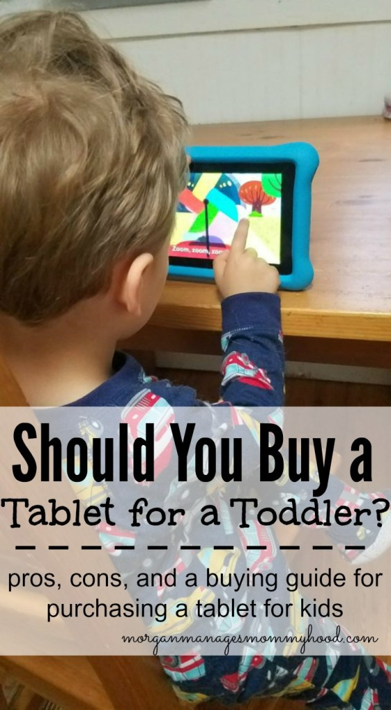 Buying a tablet for a toddler can be a confusing prospect - is it right for your family? Keep reading to find the pros and cons of buying a tablet  for a toddler, things to keep in mind, and a review on the Amazon Fire Kids.