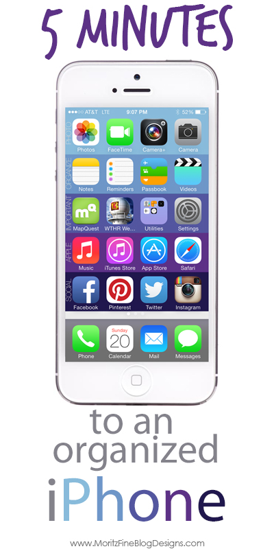 Organize your Iphone in 5 mintues!   Free Download