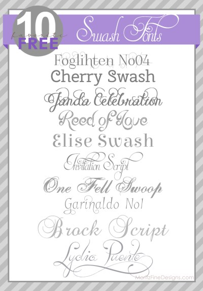 40 Best Wedding Fonts | Moritz Fine Blog Designs