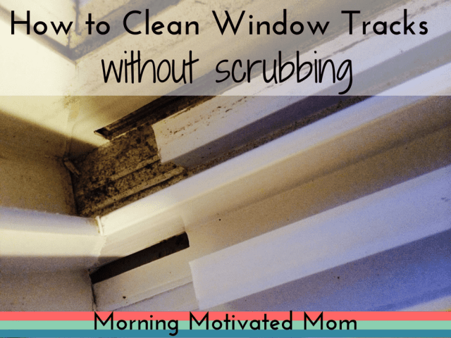 How to Clean Window Tracks without scrubbing. Easy with vinegar and baking soda!
