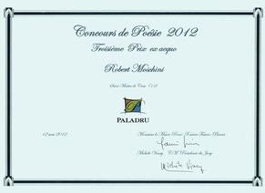 Concours de Poésie 2012