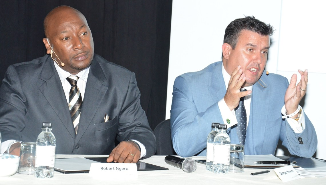 Samsung East Africa Chief Operating Officer Robert Ngeru and Samsung Africa Vice President George Ferreira