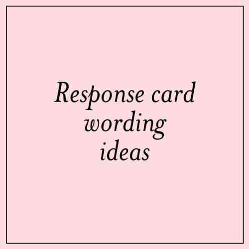 Medium Of Wedding Rsvp Card Wording