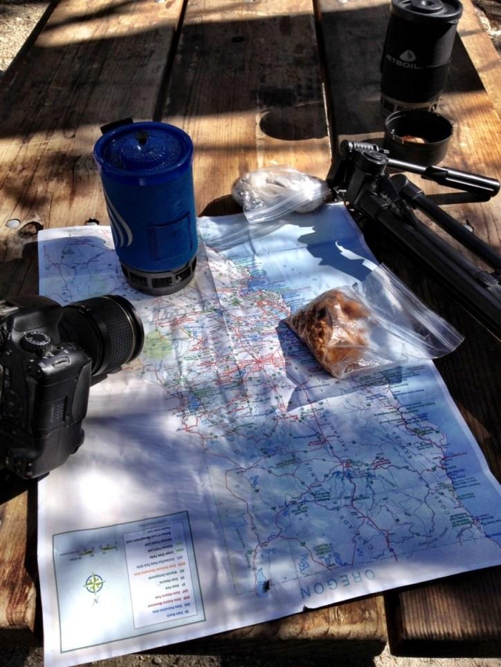 Map, camera, action