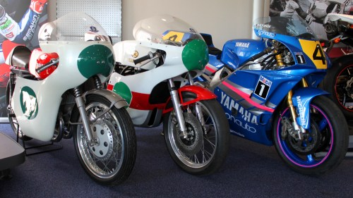 Three gorgeous racing Yamaha's