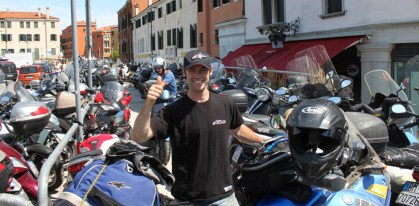 Thumbs up from the motorbike park in Venice