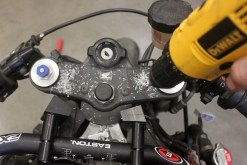 I cannot believe I'm drill holes in my bike!