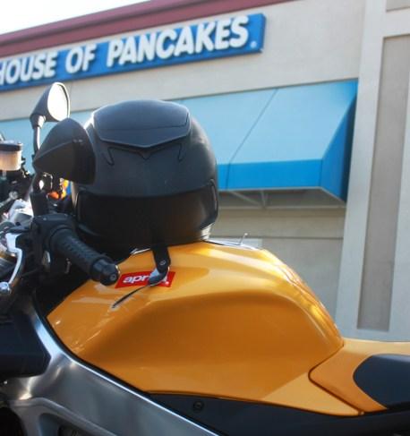 Leaving iHop and Wes's helmet steals cutlery