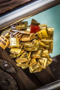 Love locked and the key thrown in the water - #venice