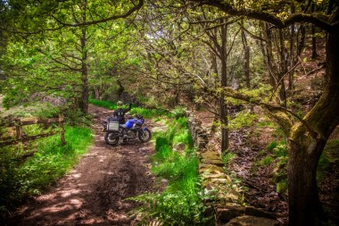 Heading off road in West Yorkshire
