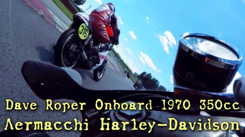 Dave Roper Onboard Aermacchi Harley 350cc