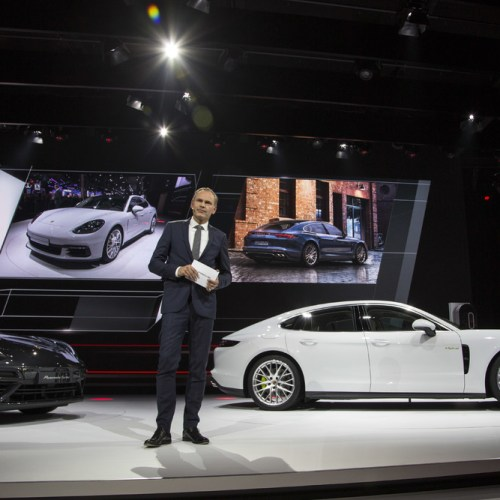Porsche Panamera 4 E-Hybrid and 911 GT3 Cup Racing Car