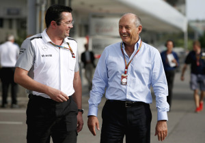Eric Boullier and Ron Dennis.