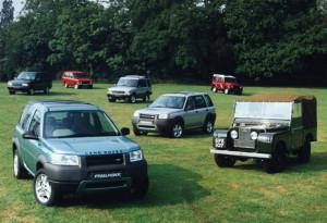 Freelander with other Land rover models