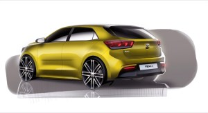 4th Generation Kia Rio_Exterior Rear Quarter Rendering