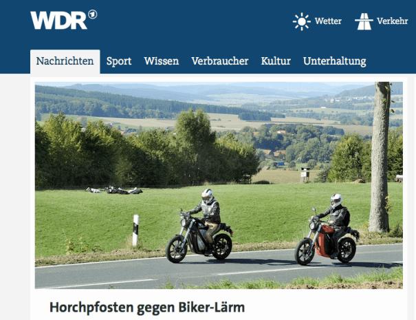 Der WDR berichtet auf seiner Homepage über die Hotspots im Bergischen Land. Quelle: Copy Website wdr.de