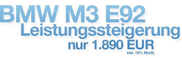 BMW M3 E92 Leistungssteigerung Banner
