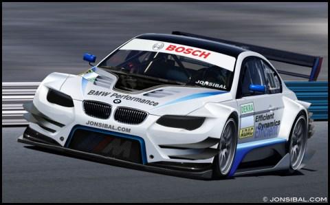 Das neue BMW M3 DTM Concept Car 2012 auf der Rennstrecke
