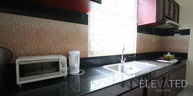 Western-style apartment Phnom Penh kitchen