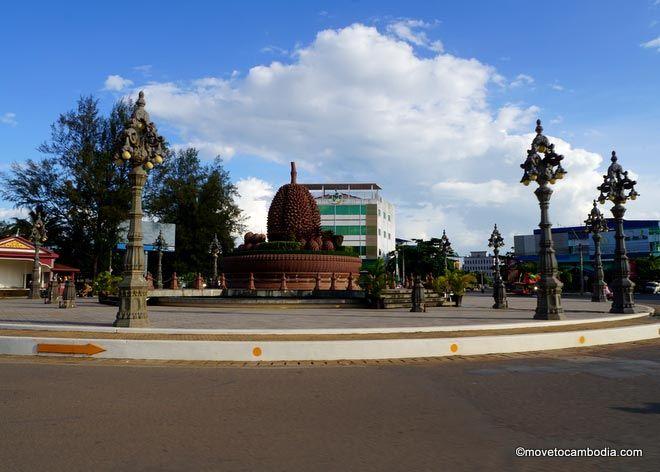 Durian roundabout Kampot