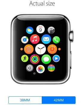 Apple Watch Actual Size
