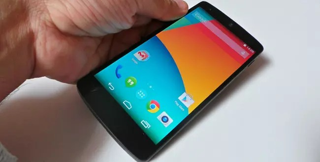 Nexus cinco con Android® 4.4.2 Kitkat